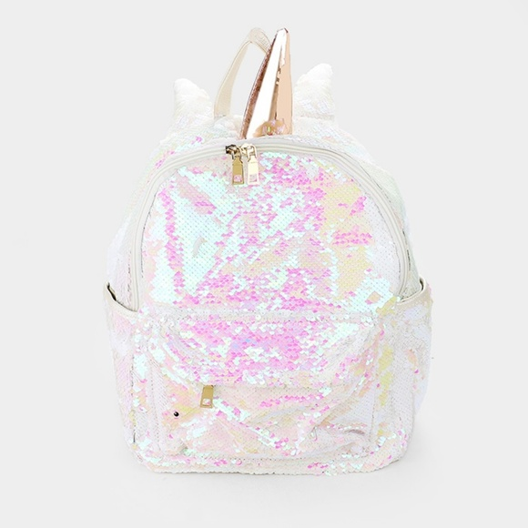 Bags White And Gold Trendy Kids Sequin Unicorn Backpack Poshmark
